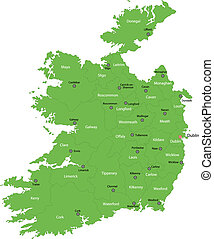 Green Ireland map