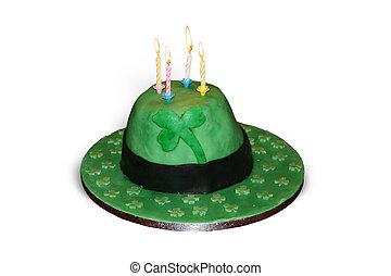 Green Irish Hat Cake