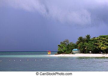 Green Island before storm