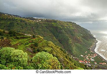 Green island of Madeira.