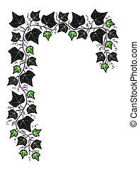 Green Ivy Border - ivy border illustration