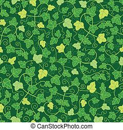 Green ivy plants seamless pattern background
