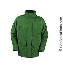 green jacket isolated on white
