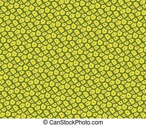 Green jackfruit peel texture, vector design