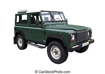 Green Jeep - Green TD5 Defender Off Road Vehicle