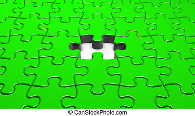Green Jigsaw Puzzle.