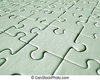 Green jigsaw bakground