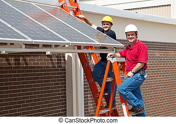 Green Jobs - Happy Workers - Happy electricians employed to...