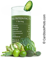 Green juice with nutrition facts