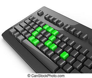 green keyboard question