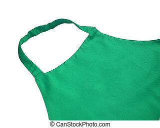 Green kitchen apron