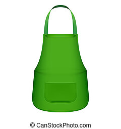 Green kitchen apron - Vector illustration