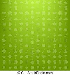 Kitchen Background - Green Kitchen Background, Vector ...