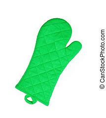 Green kitchen glove