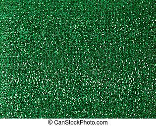 green kitchen sponge texture, full frame