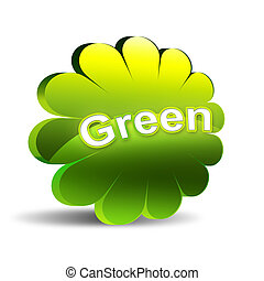 Green label icon - on white background