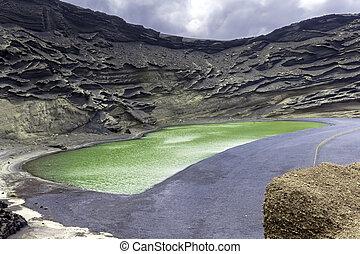 Green Lagoon - Lago Verde, El Golfo, Lanzarote, Canary Islands, Spain