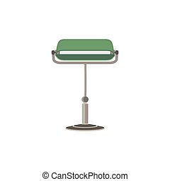 Green lamp light bulb lightbulb icon vector energy idea furniture eco