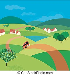 Green landscape concept