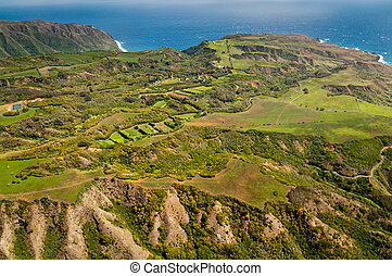 Green landscape of Molokai