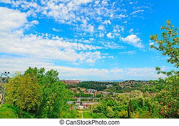 green landscape of Siena suburbs