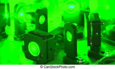 Green laser beam