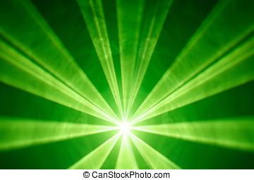 green laser light background