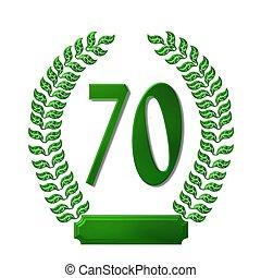 green laurel wreath 70