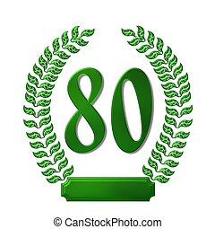 green laurel wreath 80
