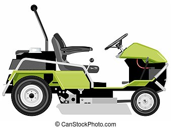 Green lawnmower