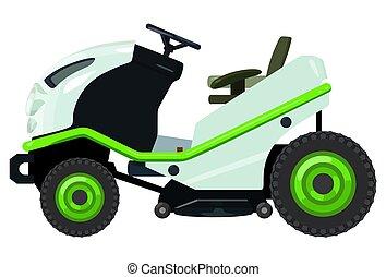 Green lawnmower