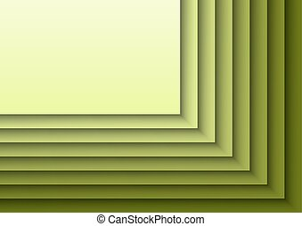 Green Layeres - Green background as many layers. Vector...