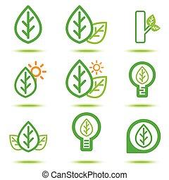 green lcon - Vector illustration of green icon