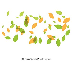 Green leaf background vector icon illustration