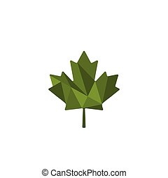 green leaf cannabis logo template vector illustration icon element