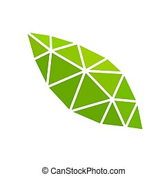 Green leaf eco abstract icon