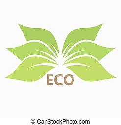 Green leaf eco icon