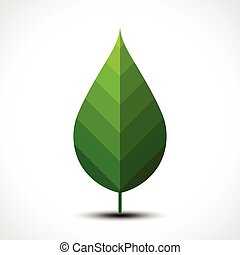 Green leaf icon. Eco Concept.