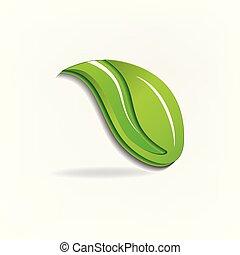 Green leaf icon logo