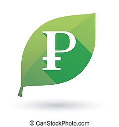 Green leaf icon with a currency sign