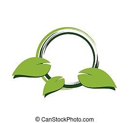 Green leaf label