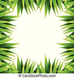Green leaf nature border