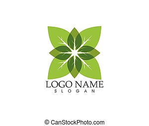 Green leaf nature plant vector illustration