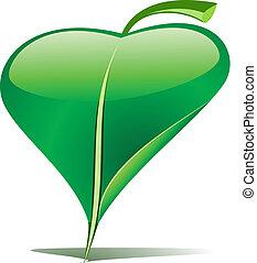 Green leaf pointer - Green leaf as an pointer