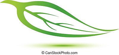 green leaf symbol  icon sign illustration