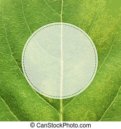Green Leaf Texture With Label
