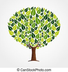 Green leaf tree concept for nature help