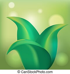 Green Leaf Tree Organic Plant Background Vector