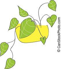 Green leafesillustration vector on white background