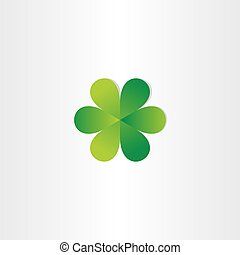 green leafs clover abstract symbol